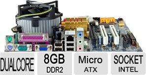 kit completo placa mãe  lga 775 + dual core 2.7 ghz + 8 giga