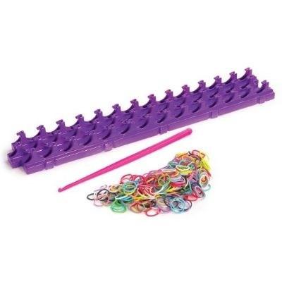kit completo  rainbow loom telar 200 ligas  agujas y clips