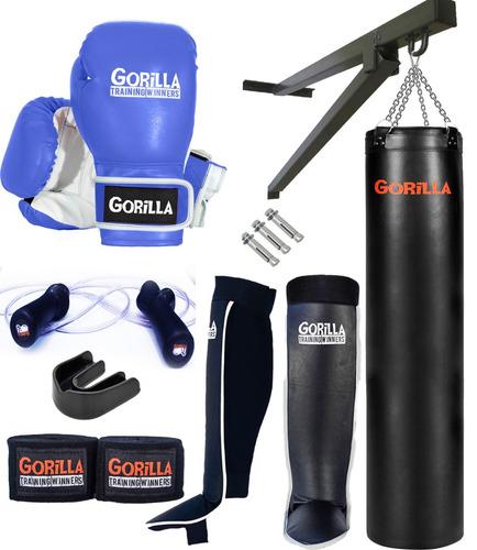 kit completo saco de pancada muay-thai/boxe - frete grátis
