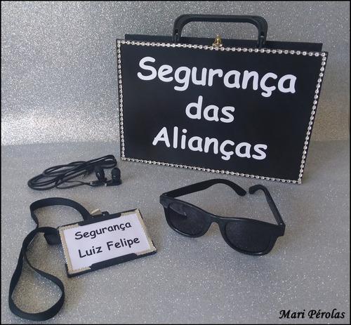 kit completo segurança das alianças c/ porta alianças