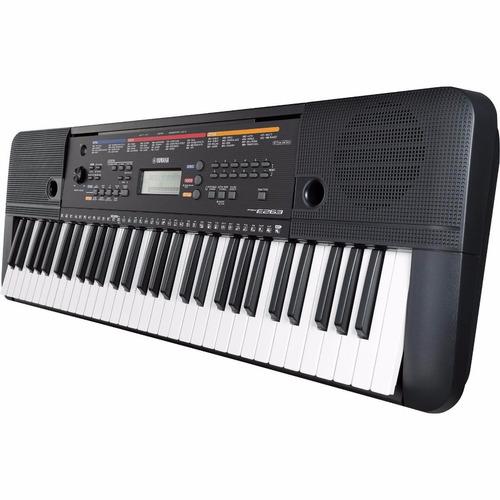 kit completo teclado arranjador psr-e263 yamaha + sustain