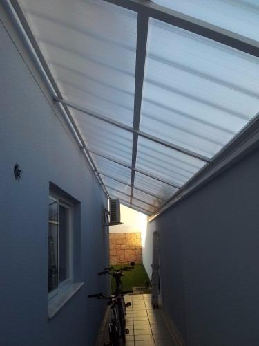 Kit completo telhas click de policarbonato cristal 3 x 3 - Cristal policarbonato ...
