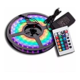 Kit Completo Tira Luces Luz Led 5050 Rgb + Control + Fuente