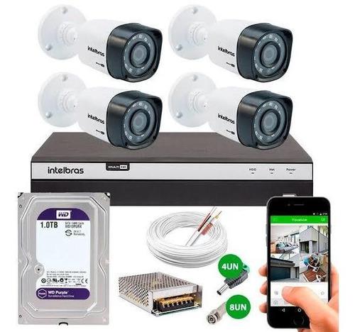 kit completo4 câmeras + instalação