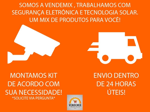 kit conector para câmera segurança 1x p4 2x bnc 1x fonte 12v