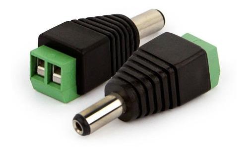 kit conectores fonte cftv camera segurança + fonte 12v