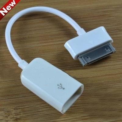 kit conexión cable adaptador otg usb para ipad 1 2 3