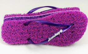 51f12490b Chinelo De Pneu Feminino Sapatos - Sapatos para Feminino Violeta no Mercado  Livre Brasil