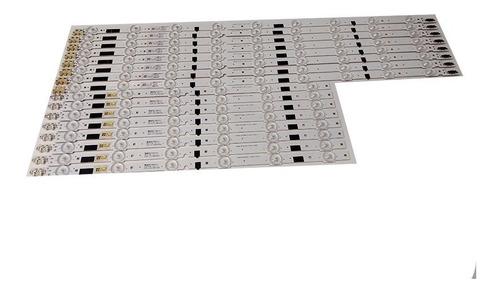 kit conju/16 barra led samsung un46f5500 un46f6400 un46f6100