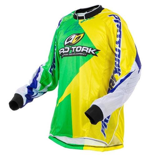 kit conjunto calça camisa nações brasil pro tork