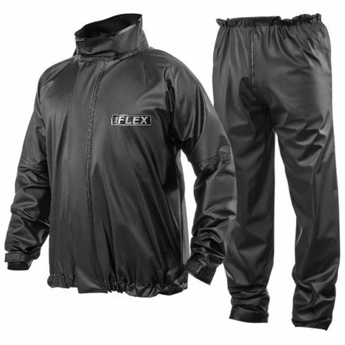 kit conjunto capa chuva pvc delta flex + bota solado preto