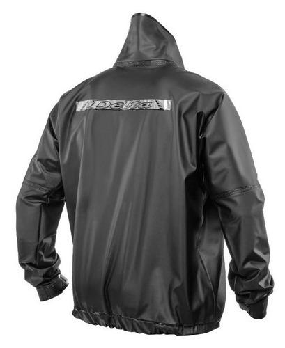 kit conjunto capa de chuva impermeável motoqueiro delta flex