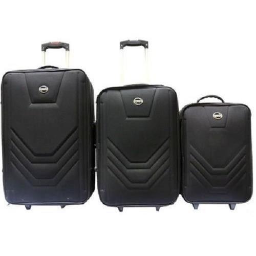 kit conjunto de 3 malas de viagem c/ rodinhas village