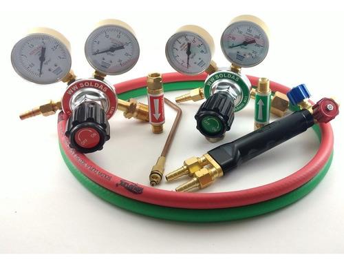 kit conjunto de solda ppu oxi- acetileno