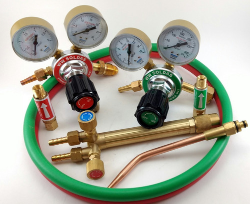 kit conjunto de solda ppu oxi- acetileno (novo)