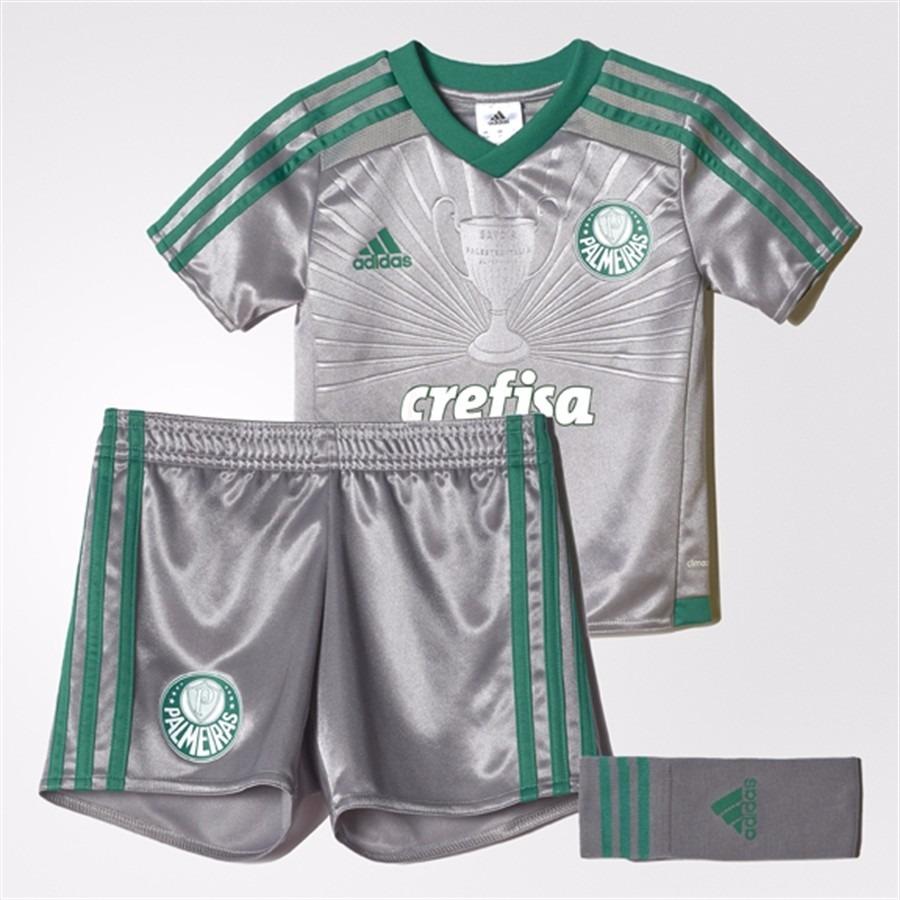 Kit Conjunto Infantil adidas Palmeiras 3 15 16 De 199 c8e4cb94700e0