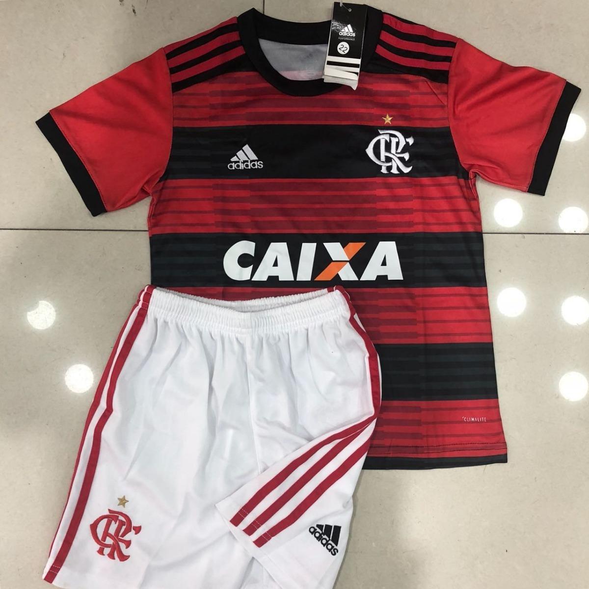 22c57b9a1c kit conjunto infantil vermelho flamengo 2018 19 promoção. Carregando zoom.