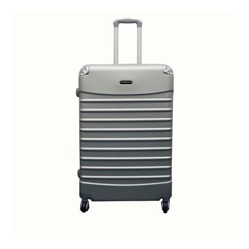kit conjunto mala de viagem em abs rigida fibra rodinha giro