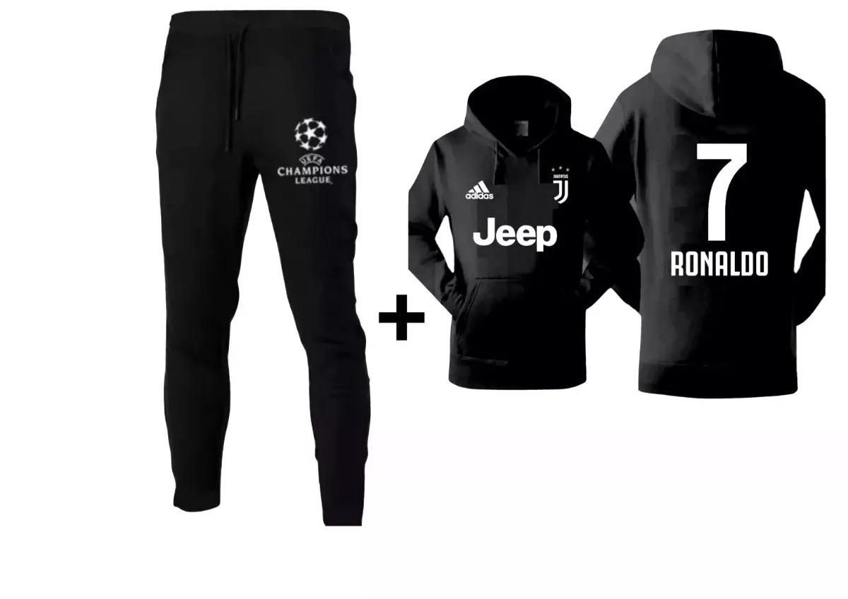7c0be1a0dcd2b Kit Conjunto Moleton Juventus Blusa Moleton Moletom Calça - R  129 ...