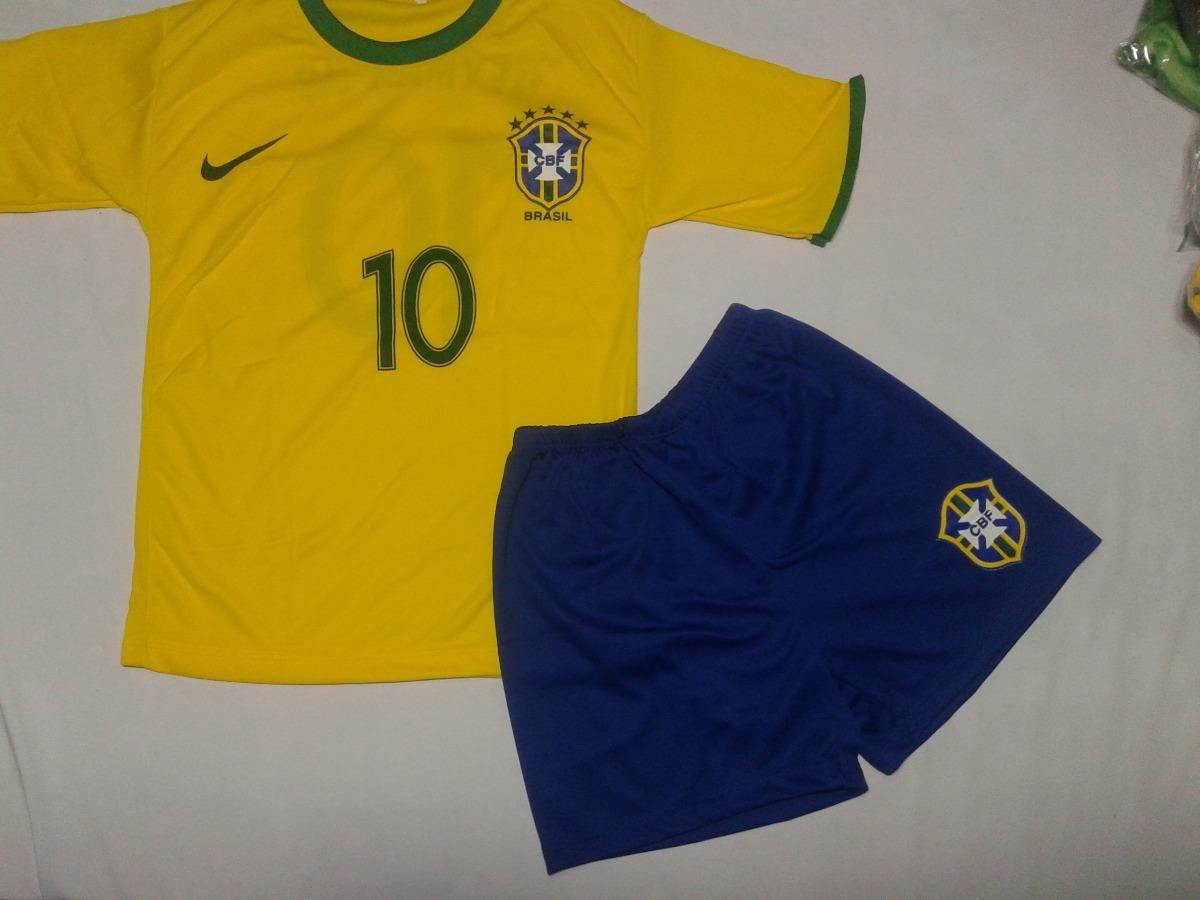 aeb3a13412 kit conjunto seleção brasileira infantil com 5 uniformes. Carregando zoom.