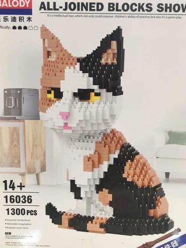 kit construcción nanoblocks gato 1300pzas + envio gratis