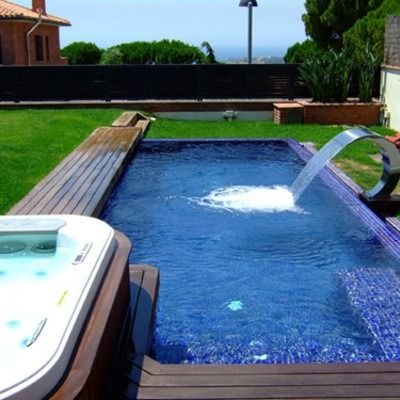 Kit construye alberca piscina jacuzzi tina planos for Piscinas con jacuzzi precio