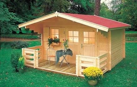 Kit construye caba as y casas de madera planos y for Cabana madera ninos