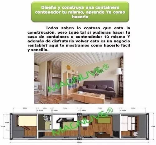 kit construye casa containers contenedor planos ideas
