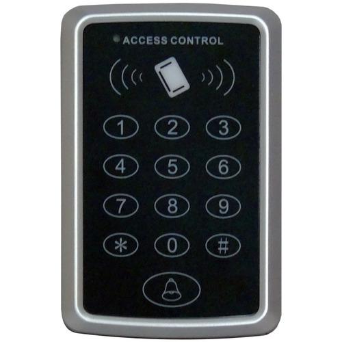 kit control de acceso chapa electrica der 10 llaveros, botón
