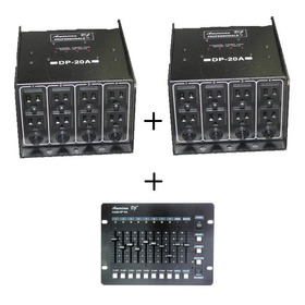 Kit Controle Dimmer C/ 1 Mesa Dimerizada + 2 Rack Potência A