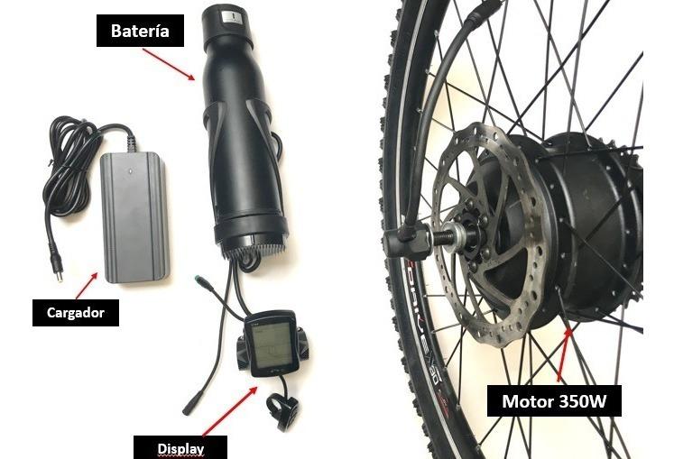 36V 350W KIT CONVERSIÓN BICICLETA E Bicicleta Eléctrica Rueda Con Batería Y Cargador
