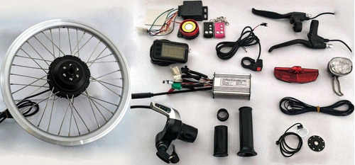 kit conversão bike elétrica 350w 36v diant. c/ sistema de ré
