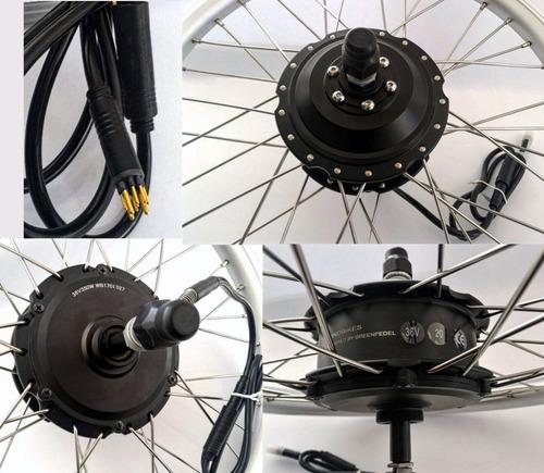 kit conversão bike elétrica 350w 36v tras. c/ sistema de ré