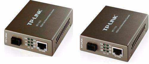 kit conversor de midia fibra wdm mc111cs e mc112cs monom