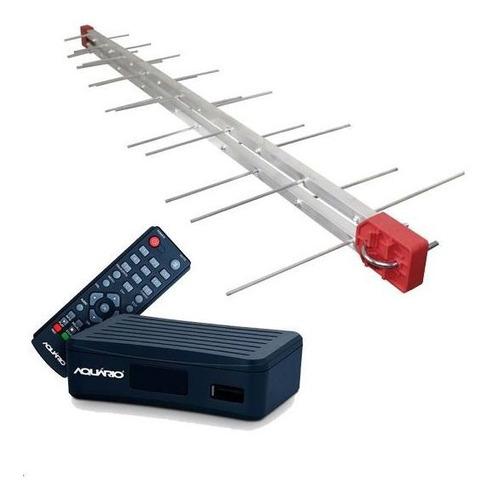 kit conversor digital aquario +antena externa +cabo montado