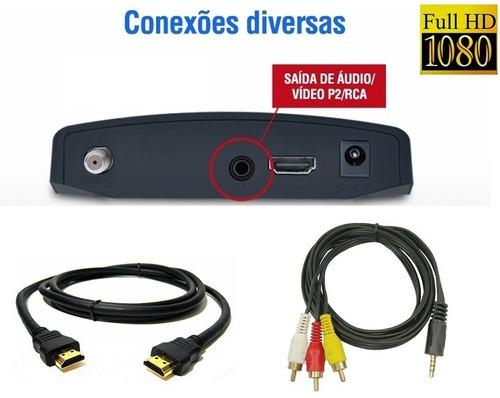 kit conversor digital aquário + antena externa digital