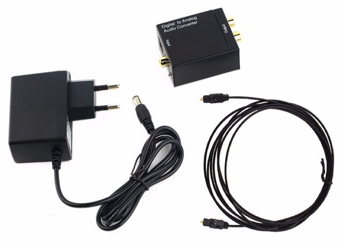 kit conversor optico  coaxial digital x rca + cabo optico