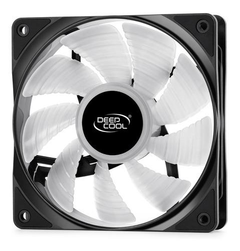 kit cooler para case deepcool rf120, 3 fan rgb   oferta