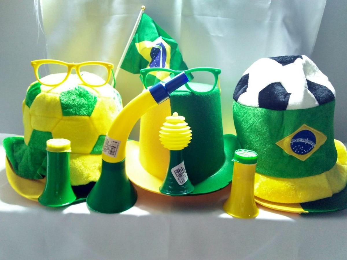 Carregando zoom... kit copa do mundo chapéu bfda446c79f