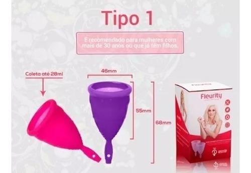 kit copa menstrual + 1 recipiente esterilizador fleurity
