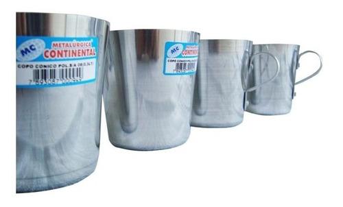 kit copo de alumínio reforçado p/ escola continental 06 unid