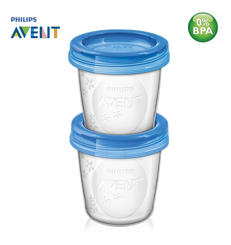 kit copos de armazenagem para leite materno avent (10un)
