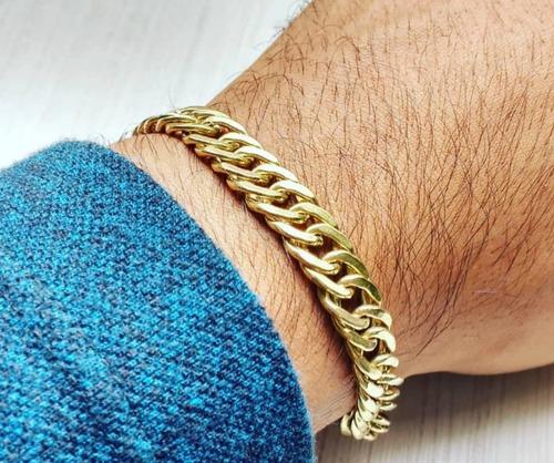 kit cordão cadeado 8mm + pulseira grumet 12mm + pingente