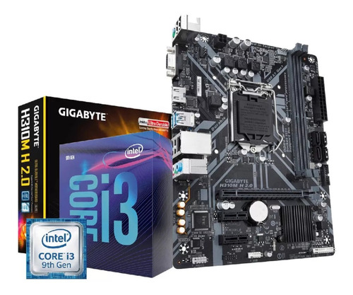 kit core i3 9100f placa mãe gigabyte h310m h 2.0