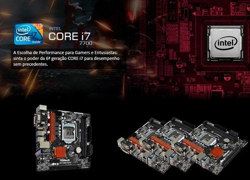 kit core i7 7700 + placa mãe h110 + 16gb (2x8) corsair + nfe