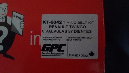 kit correa de tiempo renault twingo 8v original