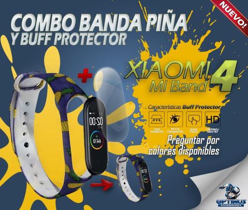 kit correa piña y buff protector xiaomi mi band 4