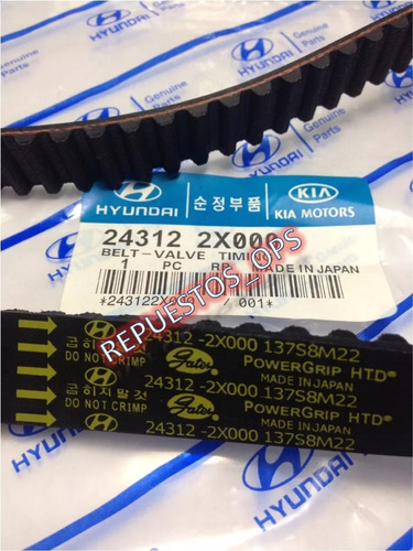 kit correa tiempo kia rio 1.5 stylus y rs original