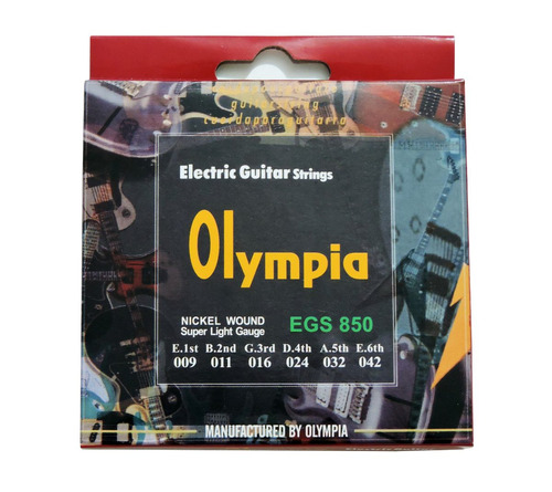 kit correia+12 palhetas fender+03 jg cordas guita olympia 09