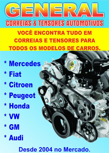 kit correia dentada alternador gm cobalt 1.4/1.8 8v